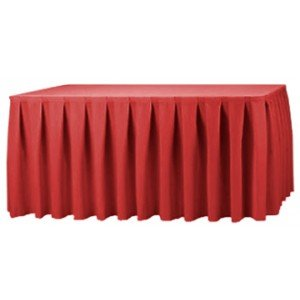 Box Pleat Table Skirt