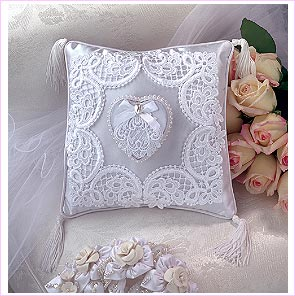 Lace work on Cotton Pillow Cover