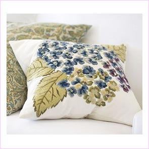 Embroidered Cotton Pillow Cover
