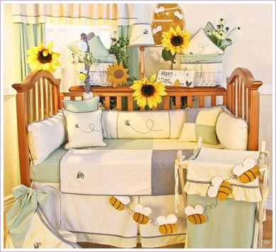 Bee My Baby 4 Piece Crib Bedding Set by Brandee Danielle