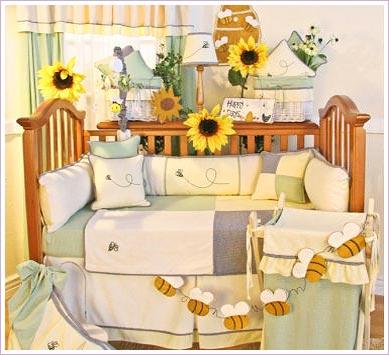 Bee my baby 4 piece crib bedding set by brandee danielle