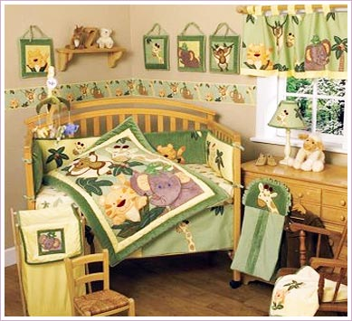 Jungle Baby Crib Bedding Set