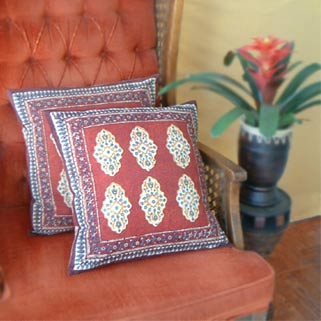 Recycled Cushion Covers from Saree