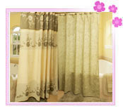 Damask Fabric Curtains