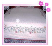 Embroidered Polyester Bed Cover