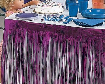 Kidney Pleat Table Skirt. Fringe Pleat