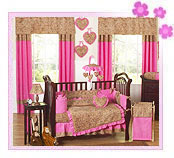Baby Girl Bedding Pink and Brown