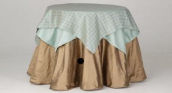 Round table skirt