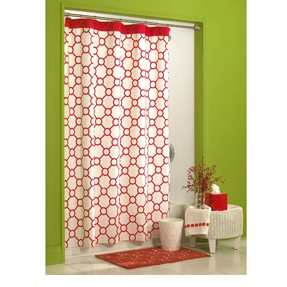 Designer Fabric Shower Curtain