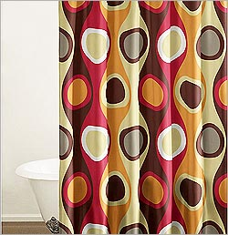 retro shower curtain designs retro shower curtains design - Retro Curtains