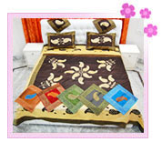 Embroidered Silk Bed Cover