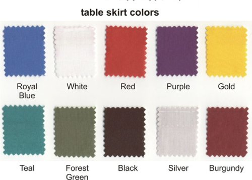 Table Skirting Colors