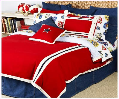 Tommy Hilfiger All American Classics Red Comforter set
