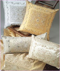 The Rich and Royal Zardozi Cushion Covers