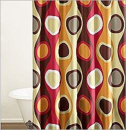 Retro Shower Curtain Designs Curtains Design